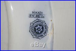 Vintage Staffordshire England Grimwade Mikado Charger Plate Blue White RARE 1890