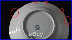 Vintage Tichelaar Makkum Holland charger, delft blue white plate dish 35cm 13.7