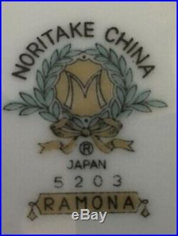 Vtg 53 pc Noritake Ramona #5203 Blue & White Plates Bowls Serving Platters Sugar