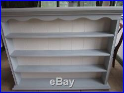 Wall plate display unit /kitchen display/ book cabinet (large)blue/white