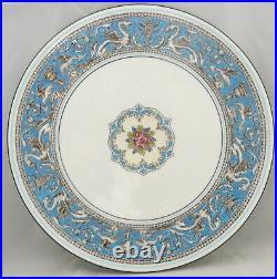 Wedgwood Florentine Turquoise Rim (Fruit Center, White) Cake Plate