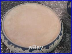 Wedgwood Jasperware Saver Keeper Dessert Dome Plate Cake Dish Covered Blue LId